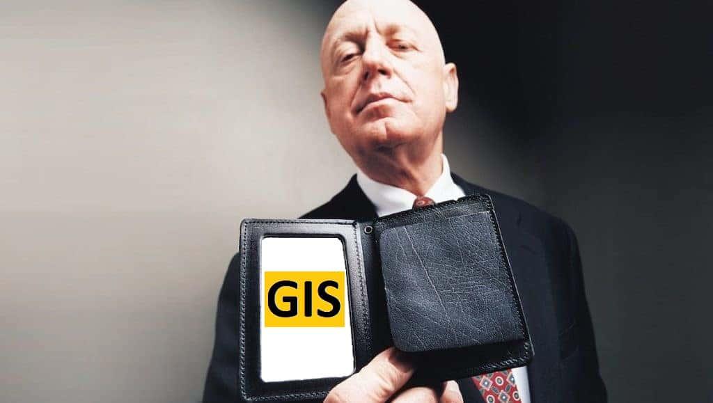 Gis-Mann mit Ausweis