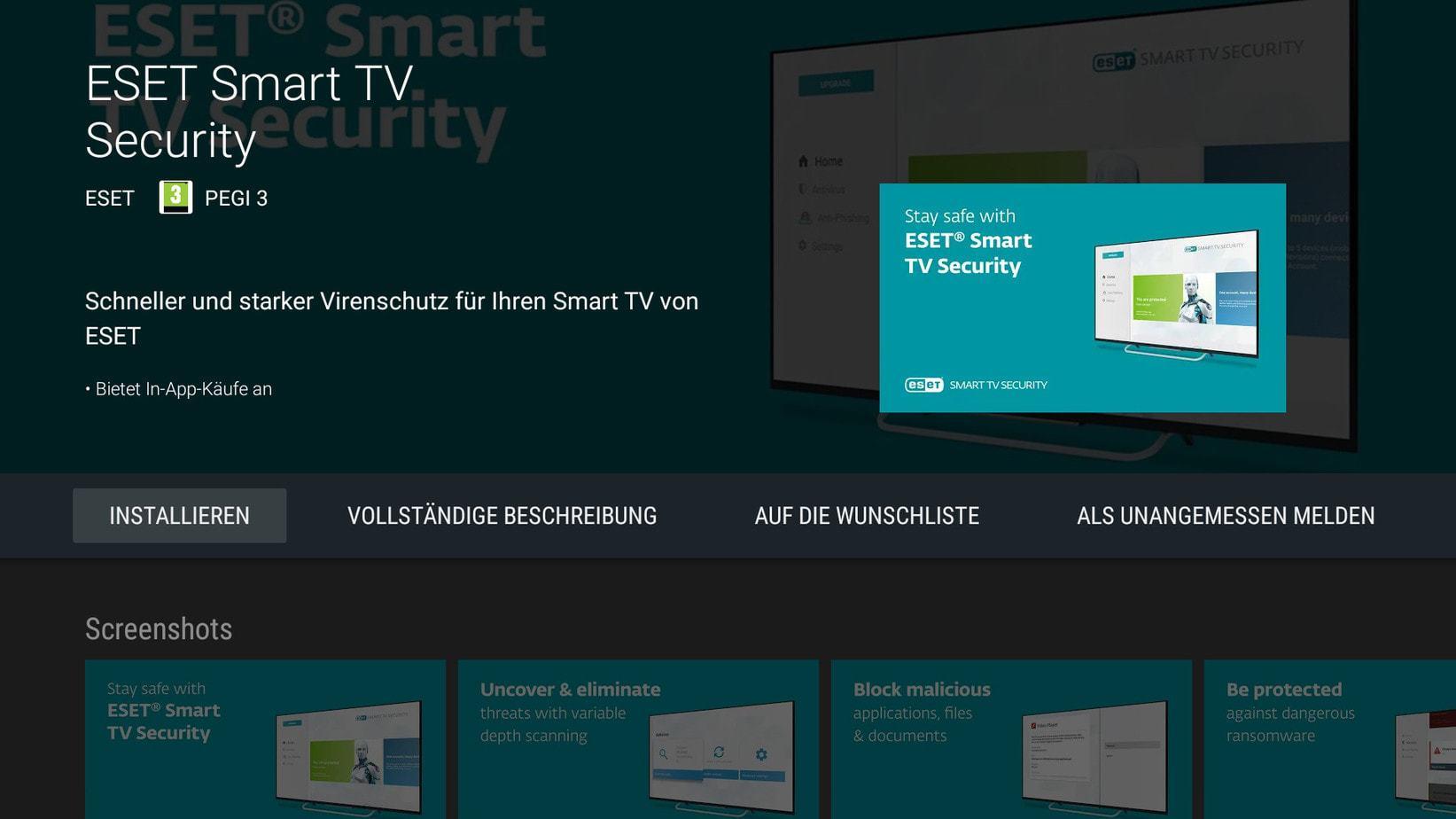 Screenshot Kagis Eset Smart TV App