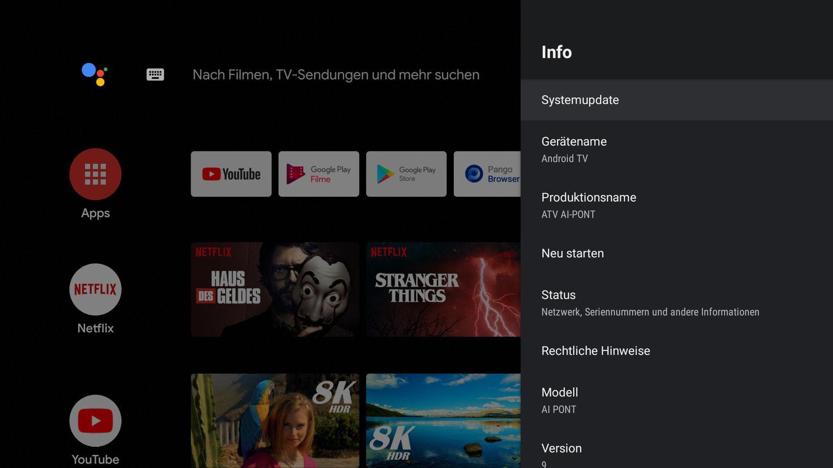 Screenshot Kagis Systemupdate