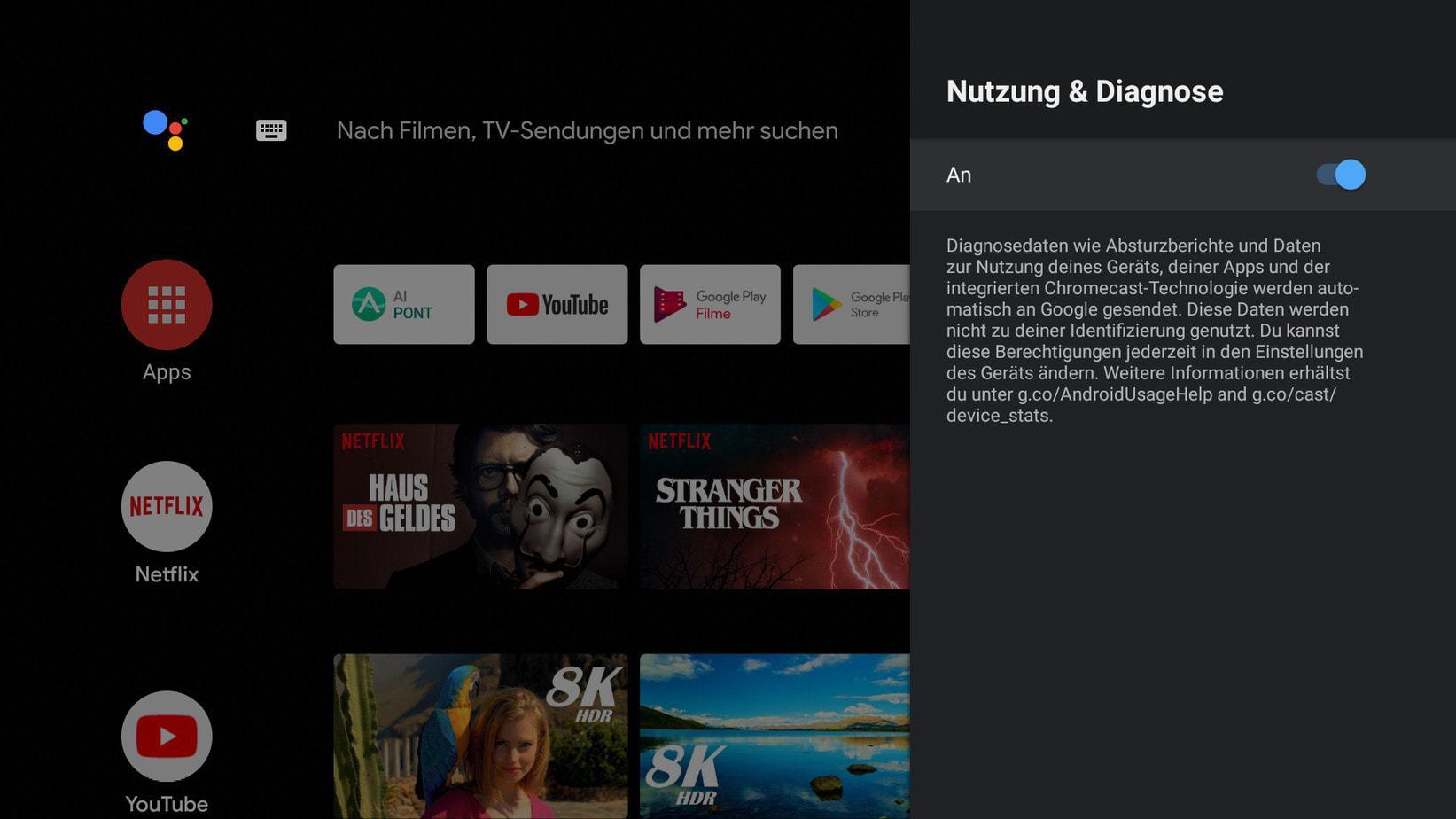 Screenshot Kagis Nutzung und DIagnose